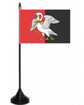 Buckinghamshire Desk / Table Flag with plastic stand and base.